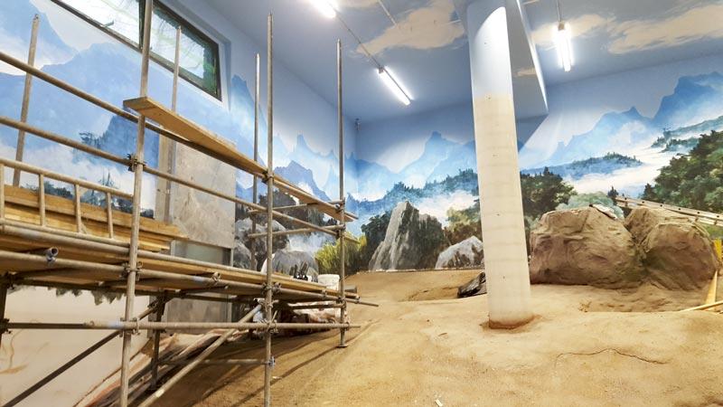 Constructie en schilderingen Pandasia in Ouwehands dierenpark